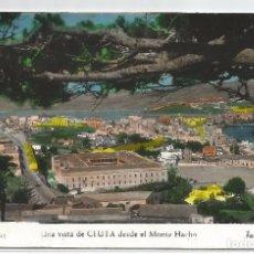 Postales: CEUTA .- VISTA DESDE EL MONTE HACHO .-Nº 91 FOTO RUBIO . Lote 96828675