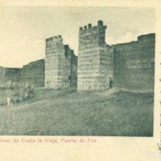 Postales: RUINAS DE CEUTA LA VIEJA. PUERTA DE FEZ CIRCULADA EN 1907 A LEÓN. MUY RARA.. Lote 97113599