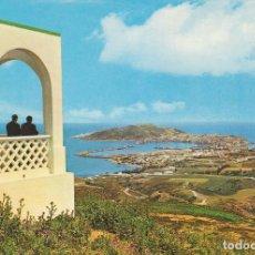 Postales: ANTIGUA POSTAL. CEUTA, VISTA DESDE EL MIRADOR DE GARCÍA ALDAVE. AÑOS 60. SIN CIRCULAR.. Lote 97918647