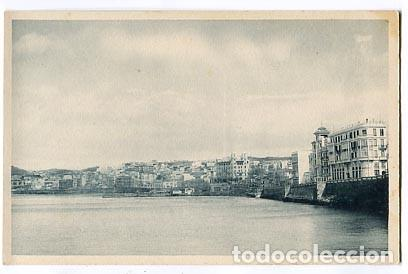 CEUTA VISTA PARCIAL DESDE EL MUELLE DE LA REPUBLICA. FOTOTIPIA HAUSER Y MENET. SIN CIRCULAR (Postales - España - Ceuta Antigua (hasta 1939))