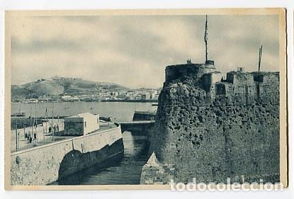 CEUTA VISTA PARCIAL Y FOSO DE LA MURALLA REAL. FOTOTIPIA HAUSER Y MENET. SIN CIRCULAR (Postales - España - Ceuta Antigua (hasta 1939))