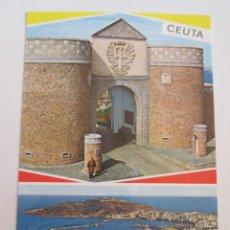 Postales: POSTAL CEUTA - CUARTEL DE REGULARES Y VISTA PARCIAL - 1968 - GARCIA GARRABELLA 35 - SIN CIRCULAR. Lote 98830339