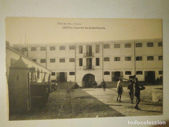 CEUTA. CUARTEL DE INTENDENCIA. HAUSER Y MENET. SIN CIRCULAR. (Postales - España - Ceuta Antigua (hasta 1939))