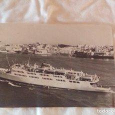 Postales: ANTIGUA POSTAL TRANSBORDADOR ENLACE CON ALGECIRAS. FOTO GARCÍA CORTES. 1961. Lote 102500083