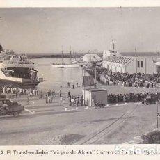 Postales: CEUTA. 35- EL TRANSBORDADOR (VIRGEN DE AFRICA) CORREO DE CEUTA ALGECIRAS, FOTO:ROBIO (230). Lote 103212023