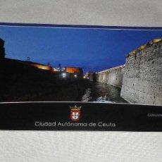 Postales: POSTAL-MARCAPAGINAS CIUDAD DE CEUTA CONJUNTO MONUMENTAL DE LAS MURALLAS REALES. Lote 103229591