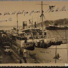 Postales: ANTIGUA POSTAL.VAPOR DEL CORREO.CEUTA.FOTO RUBIO. Lote 103992363