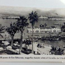 Postales: POSTAL DE CEUTA ANTIGUA EL PASEO DE SAN SEBASTIAN FOTO RUBIO MAGNIFICO BALCON SOBRE EL ESTRECHO . Lote 105265887