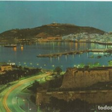 Postales: CEUTA, NOCTURNA DESDE LA AV. DE AFRICA - EDIC.LIB.GENERAL Nº 34 - EDITADA EN 1965 - S/C. Lote 204143718