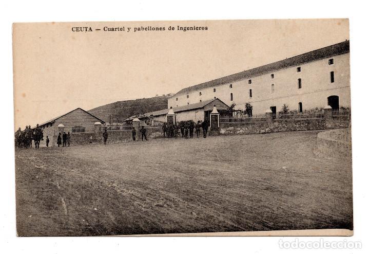 CEUTA, CUARTEL Y PABELLONES DE INGENIEROS, ED. M. ARRIBAS (Postales - España - Ceuta Antigua (hasta 1939))