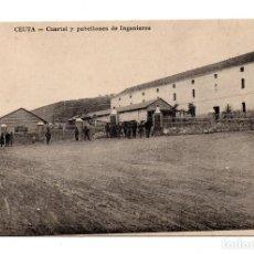 Postales: CEUTA, CUARTEL Y PABELLONES DE INGENIEROS, ED. M. ARRIBAS. Lote 108734827