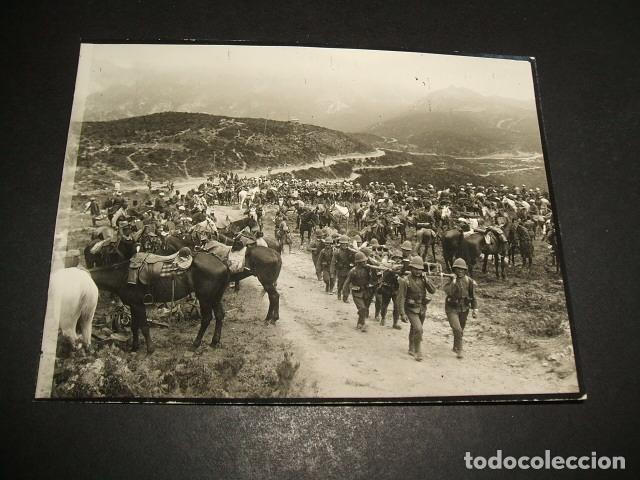 CEUTA GUERRA DEL RIF POSTAL FOTOGRAFICA CABALLERIA DE REGULARES PREPARANDOSE COMBATE KUDIA TAHAR (Postales - España - Ceuta Antigua (hasta 1939))