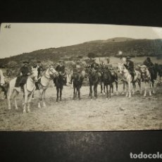 Postales: CEUTA GUERRA DEL RIF POSTAL FOTOGRAFICA AUTORIDADES CIVILES Y MILITARES A CABALLO. Lote 110276715