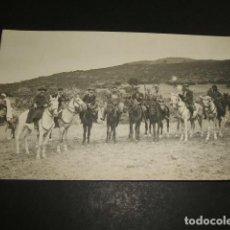 Postales: CEUTA GUERRA DEL RIF POSTAL FOTOGRAFICA AUTORIDADES CIVILES Y MILITARES A CABALLO. Lote 110277503