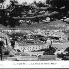 Postales: == AF421 - POSTAL - VISTA DE CEUTA DESDE EL MONTE HACHO - FORO RUBIO - SIN CIRCULAR. Lote 110510103