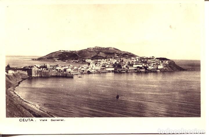 CEUTA-VISTA GENERAL-FOTOGRÁFICA- MUY RARA (Postales - España - Ceuta Moderna (desde 1940))