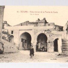 Postales: TARJETA POSTAL TETUAN. VISTA INTERIOR DE LA PUERTA DE CEUTA. Nº 15. FOT. A. SIERRA. Lote 114869646