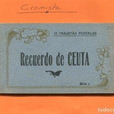 Postales: BLOCK 10 TARJETAS POSTALES DE CEUTA -- NO CIRCULADA // ( NOV2018 ). Lote 115281907