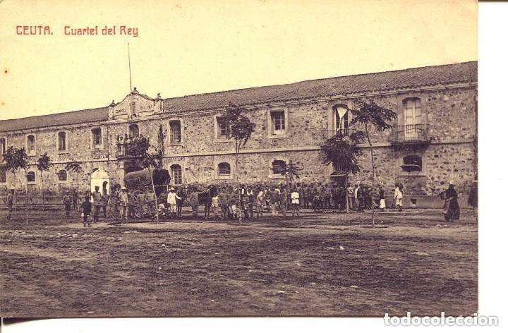 CEUTA-CUARTEL DEL REY-SOLDADOS Y CARRO MILITAR- CASTAÑEIRA (Postales - España - Ceuta Antigua (hasta 1939))