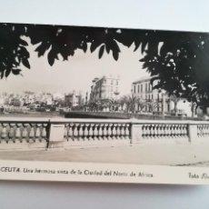 Postales: CEUTA, UNA VISTA. FOTO RUBIO.. Lote 117527771