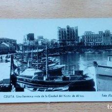 Postales: POSTAL DE CEUTA HERMOSA VISTA DE LA CIUDAD DEL NORTE DE AFRICA FOTO RUBIO 1961 CIRCULADA . Lote 121055115