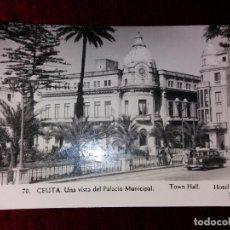 Postales: CEUTA. PALACIO MUNICIPAL. FOTO RUBIO Nº70 ESCRITA. Lote 121060767