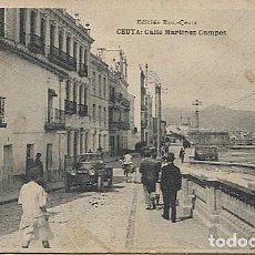 Postales: X118199 CEUTA CALLE MARTINEZ CAMPOS. Lote 121491695