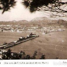 Postales: CEUTA.- UNA VISTA DESDE EL MONTE HACHO. Lote 121911483