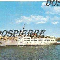 Postales: POSTAL, CEUTA, BUQUE TRANSBORDADOR, ED. JUAN AGUILAR, SIN CIRCULAR. Lote 122030383