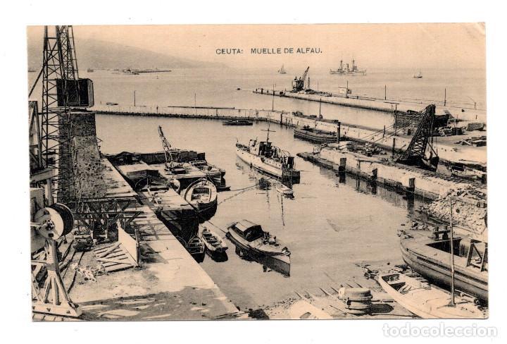 CEUTA.- MUELLE DE ALFAU - HAUSER Y MENET (Postales - España - Ceuta Antigua (hasta 1939))