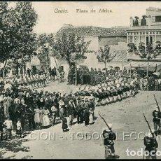 Postales: POSTAL CEUTA PLAZA DE AFRICA . A. AREVALO 19 COLECCION HISPANO MARROQUI . CA AÑO 1910. Lote 124547015