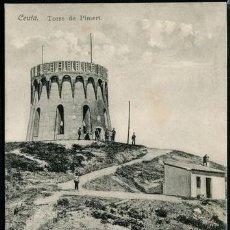 Postales: POSTAL CEUTA TORRE DE PIMERT . A. AREVALO 21 COLECCION HISPANO MARROQUI . CA AÑO 1910. Lote 124547351