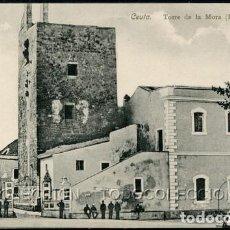 Postales: POSTAL CEUTA TORRE DE LA MORA DERRUIDA . A. AREVALO 10 COLECCION HISPANO MARROQUI . CA AÑO 1910. Lote 124547559