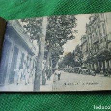 Postales: BLOC 17 POSTALES RECUERDO DE CEUTA ED ARRIBAS CUARTEL EL HACHO ,EL REBELLIN , ALMINA HOSPITAL POSTAL. Lote 126823959