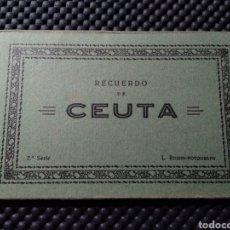 Postales: RECUERDO DE CEUTA .- 10 POSTALES .- 2ª SERIE FOTO L. ROISIN. Lote 129341530