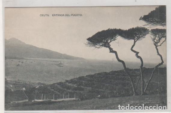 CEUTA ENTRADA DEL PUERTO FOTOTIPÍA HAUSER Y MENET. SIN CIRCULAR. (Postales - España - Ceuta Antigua (hasta 1939))