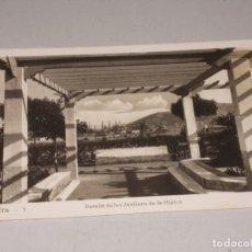 Postales: CEUTA DETALLE DE LOS JARDINES DE LA HÍPICA, ESCRITA. Lote 131490042