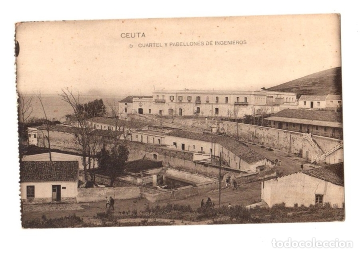 TARJETA POSTAL CEUTA. CUARTEL Y PABELLONES DE INGENIEROS. Nº 5. HAUSER Y MENET (Postales - España - Ceuta Antigua (hasta 1939))