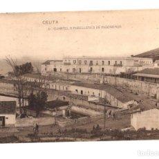 Postales: TARJETA POSTAL CEUTA. CUARTEL Y PABELLONES DE INGENIEROS. Nº 5. HAUSER Y MENET. Lote 133824903