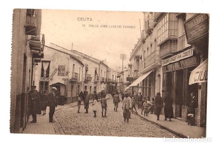 TARJETA POSTAL CEUTA. CALLE JOSE LUIS DE TORRES. Nº 16. HAUSER Y MENET (Postales - España - Ceuta Antigua (hasta 1939))