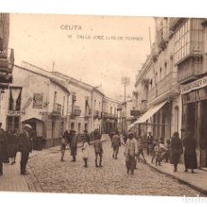 Postales: TARJETA POSTAL CEUTA. CALLE JOSE LUIS DE TORRES. Nº 16. HAUSER Y MENET. Lote 134290910