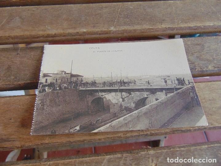 TARJETA POSTAL SIN CIRCULAR DE HAUSER Y MENET DE CEUTA PUENTE DE LA ALMINA (Postales - España - Ceuta Antigua (hasta 1939))