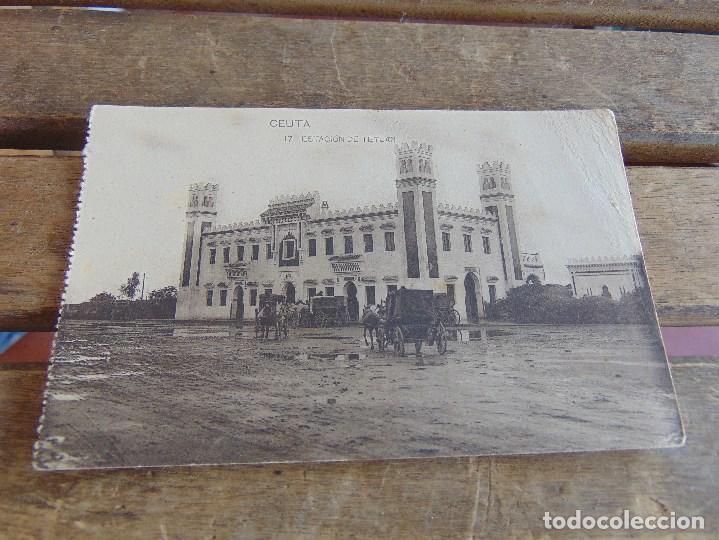 TARJETA POSTAL SIN CIRCULAR DE HAUSER Y MENET DE CEUTA ESTACION DE TETUAN (Postales - España - Ceuta Antigua (hasta 1939))