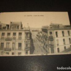 Postales: CEUTA CALLE DE ALFAU. Lote 139205578