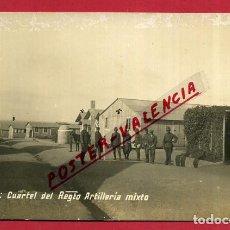 Postales: POSTAL CEUTA , CUARTEL REGIMIENTO ARTILLERIA MIXTA , FOTOGRAFICA , ORIGINAL, P398. Lote 139304670