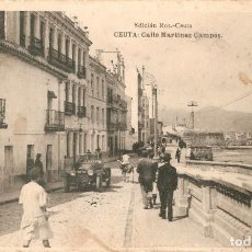 Postales: CEUTA - CALLE MARTINEZ CAMPOS EDICIÓN ROS NO CIRCULADA. Lote 140502582