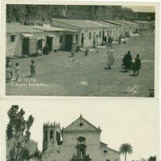 Postales: CEUTA LA CATEDRAL.EL ANGULO SOCIEDAD HIPICA. HACIA 1920.LOTE 3 POSTALES.. Lote 142143002