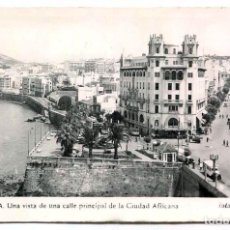 Postales: TARJETA POSTAL FOTOGRAFICA - CEUTA / VISTA CALLE PRINCIPAL. Lote 142562398