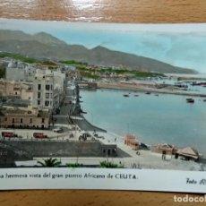 Postales: CEUTA Nº 24 UNA HERMOSA VISTA DEL GRAN PUERTO AFRICANO DE CEUTA. FOTO RUBIO. Lote 144981590