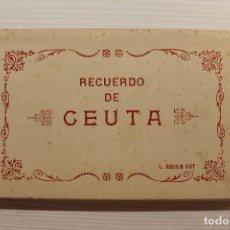 Postales: CUADERNILLO CON 26 POSTALES RECUERDO DE CEUTA, L ROISIN. Lote 145405566